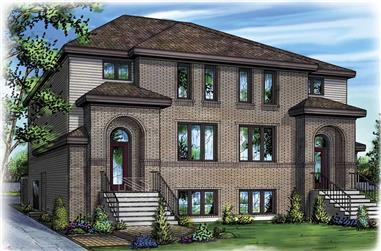 3-Bedroom, 2231 Sq Ft Multi-Unit House Plan - 157-1026 - Front Exterior