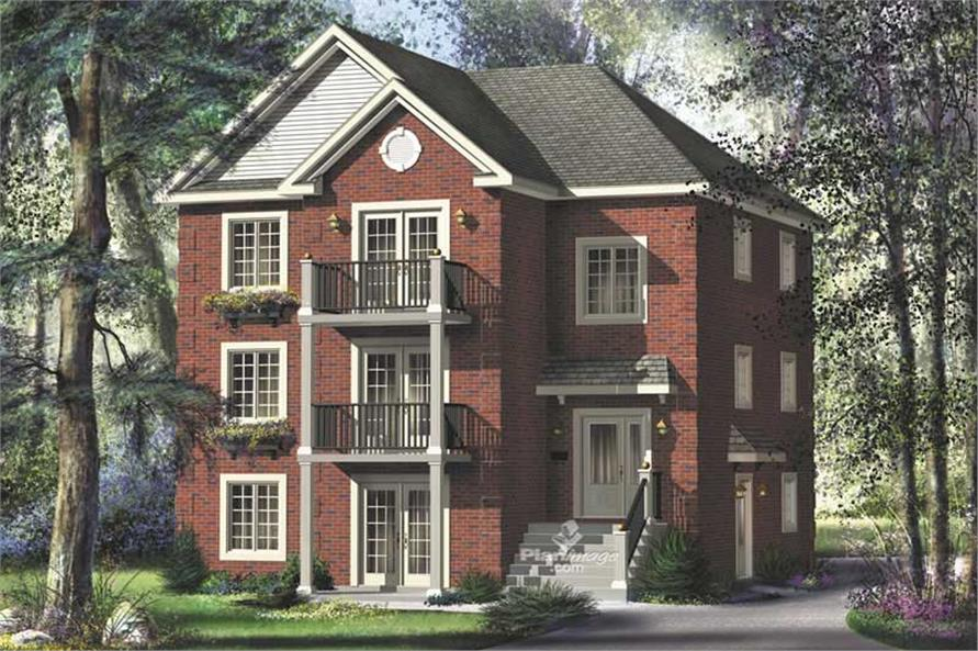 3-Bedroom, 1883 Sq Ft Multi-Level House Plan - 157-1027 - Front Exterior