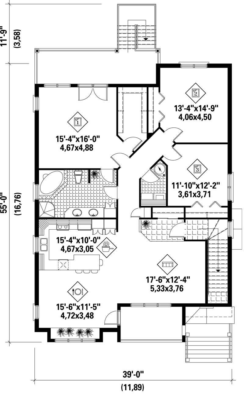 Multi Level Multi Unit House Plans Home Design Pi 41353