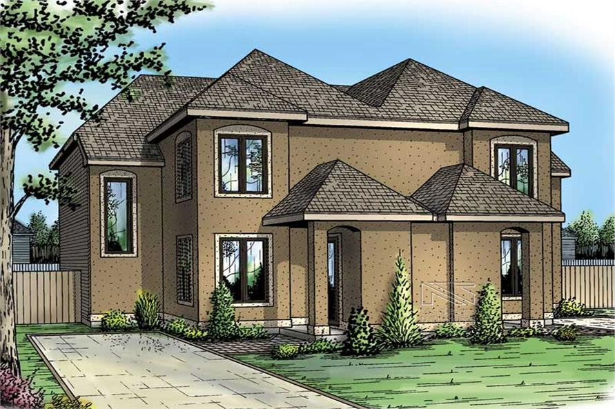 2-Bedroom, 1203 Sq Ft Multi-Unit House Plan - 157-1031 - Front Exterior
