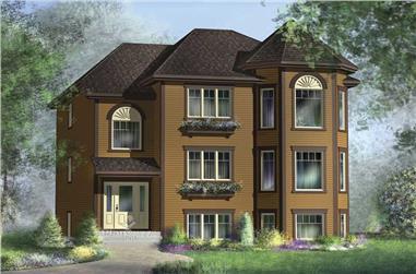 3-Bedroom, 1382 Sq Ft Multi-Unit Plan - 157-1034 - Main Exterior