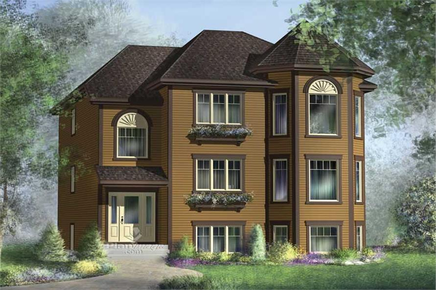 3-Bedroom, 1382 Sq Ft Multi-Level Home Plan - 157-1034 - Main Exterior