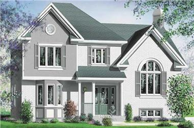 3-Bedroom, 1077 Sq Ft Multi-Unit House Plan - 157-1036 - Front Exterior