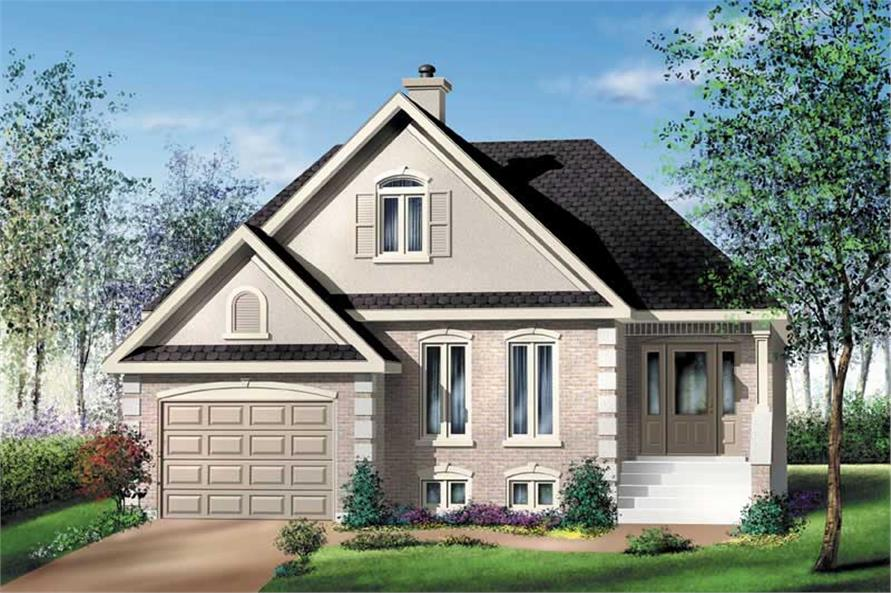 3-Bedroom, 1203 Sq Ft Craftsman House Plan - 157-1037 - Front Exterior