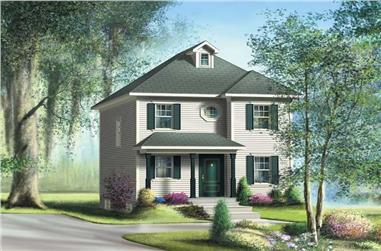 3-Bedroom, 1192 Sq Ft Ranch Home Plan - 157-1038 - Main Exterior