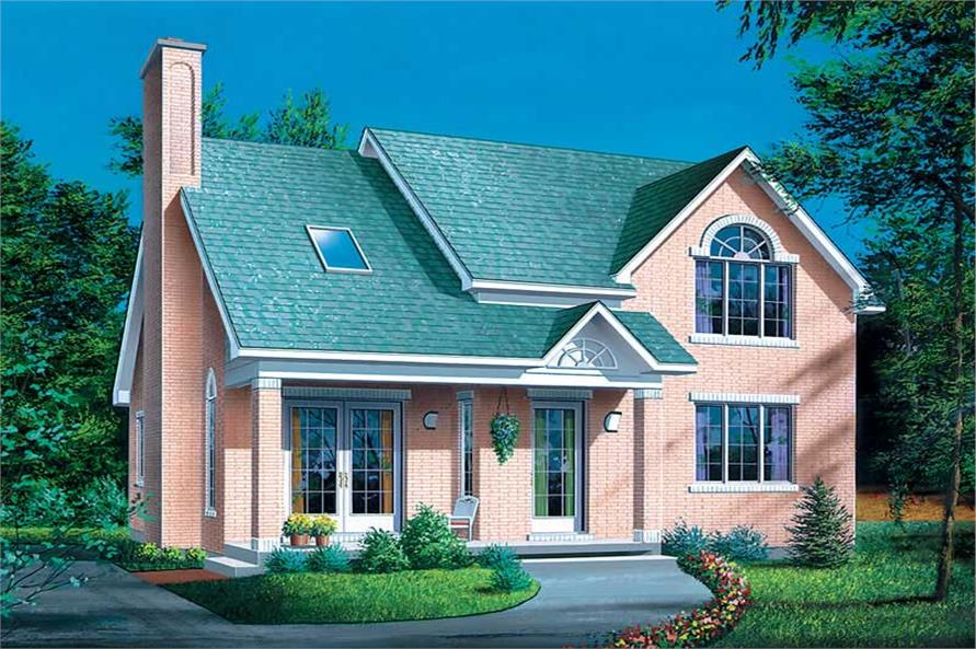 4-Bedroom, 1817 Sq Ft Country Home Plan - 157-1041 - Main Exterior