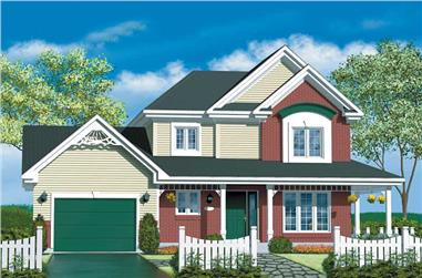 3-Bedroom, 1283 Sq Ft Craftsman House Plan - 157-1042 - Front Exterior