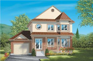 3-Bedroom, 1588 Sq Ft Country House Plan - 157-1045 - Front Exterior