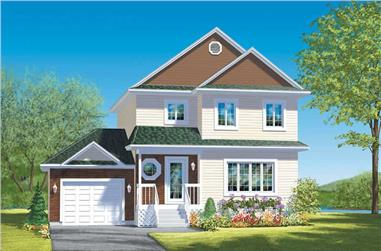 3-Bedroom, 1500 Sq Ft Country House Plan - 157-1046 - Front Exterior