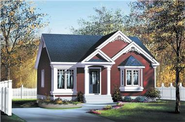 2-Bedroom, 896 Sq Ft Bungalow House Plan - 157-1047 - Front Exterior