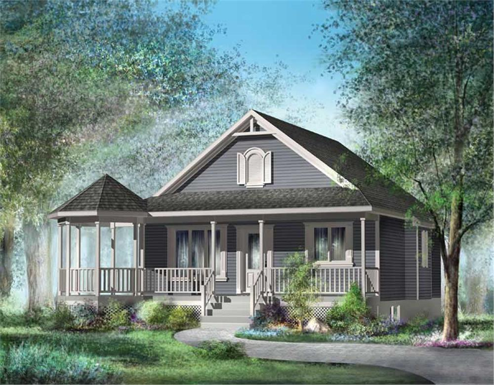 Front elevation of Country home (ThePlanCollection: House Plan #157-1048)