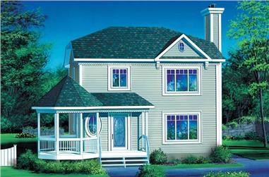 3-Bedroom, 1440 Sq Ft Country House Plan - 157-1049 - Front Exterior