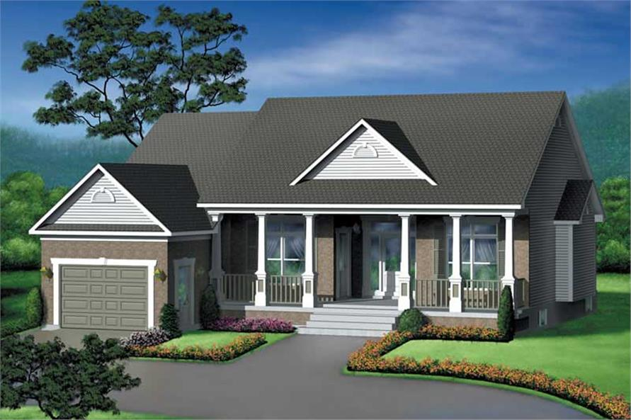 2-Bedroom, 1618 Sq Ft Country Home Plan - 157-1050 - Main Exterior
