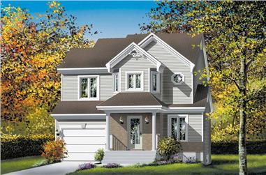 3-Bedroom, 1401 Sq Ft Craftsman House Plan - 157-1053 - Front Exterior