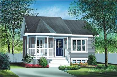 2-Bedroom, 780 Sq Ft Bungalow Home Plan - 157-1054 - Main Exterior