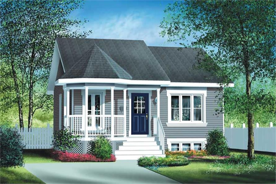 #157 1054 · 2 Bedroom, 780 Sq Ft Bungalow Home Plan   157 1054   Main Photo