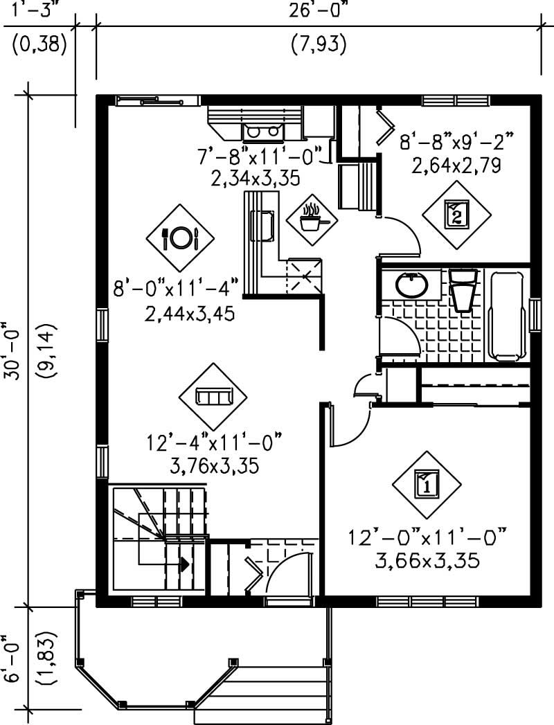 Small bungalow country house plans home design pi for 780 square feet house plan