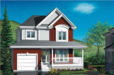 3-Bedroom, 1166 Sq Ft Country Home Plan - 157-1057 - Main Exterior
