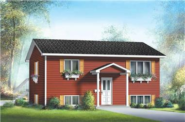 2-Bedroom, 827 Sq Ft Ranch House Plan - 157-1058 - Front Exterior