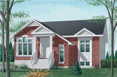 3-Bedroom, 1178 Sq Ft Bungalow Home Plan - 157-1060 - Main Exterior