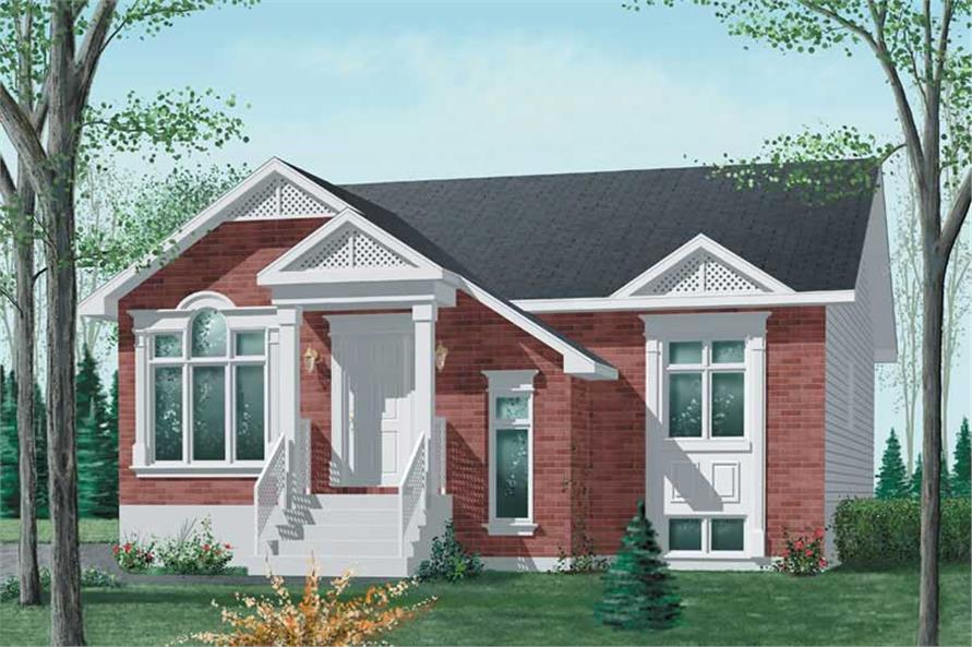 3-Bedroom, 1178 Sq Ft Bungalow Home Plan - 157-1060 - Main Exterior