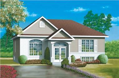 3-Bedroom, 1312 Sq Ft Ranch Home Plan - 157-1061 - Main Exterior