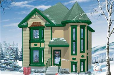 3-Bedroom, 1412 Sq Ft Small House Plans - 157-1062 - Main Exterior