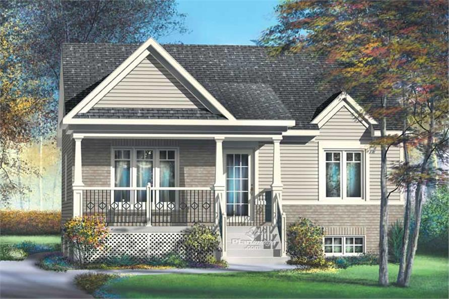 2-Bedroom, 806 Sq Ft Country House Plan - 157-1063 - Front Exterior