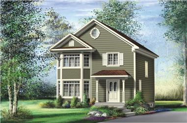 2-Bedroom, 1184 Sq Ft Ranch Home Plan - 157-1064 - Main Exterior