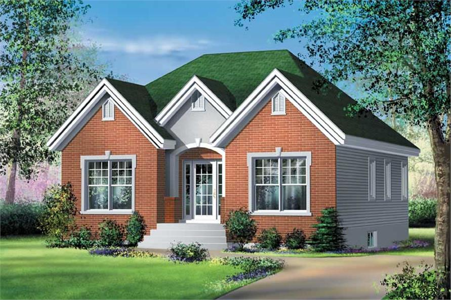 2-Bedroom, 1003 Sq Ft Craftsman House Plan - 157-1065 - Front Exterior