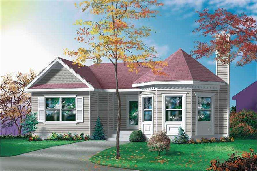 2-Bedroom, 1020 Sq Ft Ranch Home Plan - 157-1067 - Main Exterior