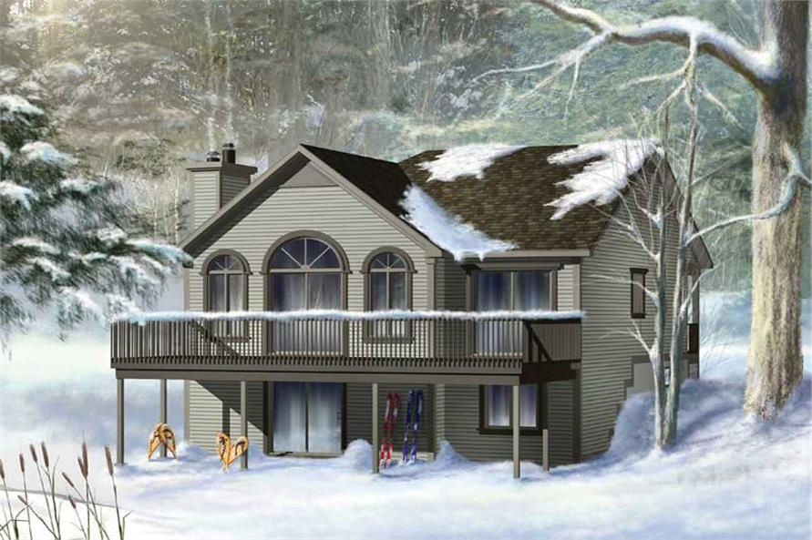 2-Bedroom, 992 Sq Ft Country House Plan - 157-1071 - Front Exterior