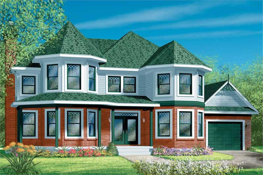 4-Bedroom, 2328 Sq Ft European House Plan - 157-1075 - Front Exterior