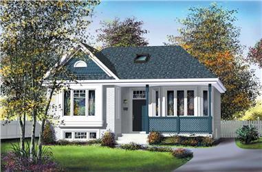 2-Bedroom, 1011 Sq Ft Bungalow Home Plan - 157-1080 - Main Exterior