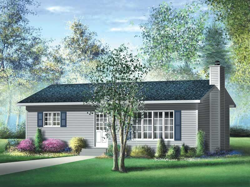 Ranch Home 2 Bedrms 1 Baths 864 Sq Ft Plan 157 1081