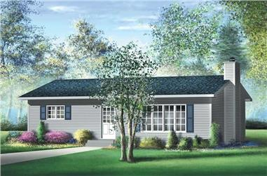 2-Bedroom, 864 Sq Ft Ranch House Plan - 157-1081 - Front Exterior