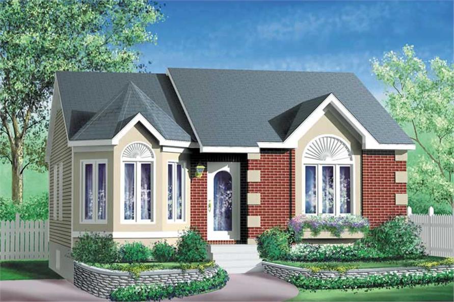 2-Bedroom, 967 Sq Ft Bungalow Home Plan - 157-1082 - Main Exterior