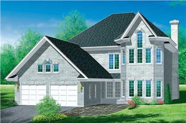 4-Bedroom, 2578 Sq Ft Craftsman Home Plan - 157-1083 - Main Exterior