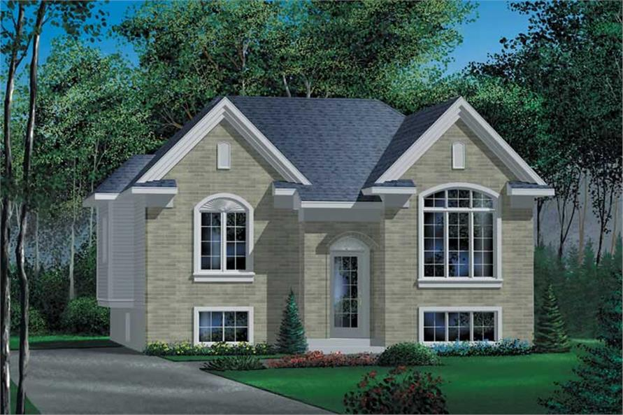 3-Bedroom, 1093 Sq Ft Craftsman Home Plan - 157-1084 - Main Exterior