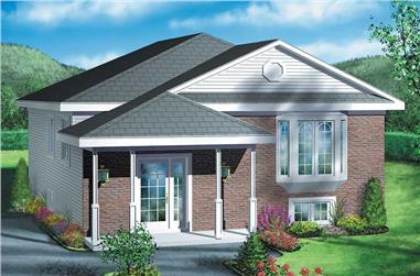 2-Bedroom, 952 Sq Ft Bungalow Home Plan - 157-1085 - Main Exterior