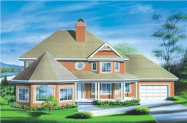 4-Bedroom, 2615 Sq Ft European House Plan - 157-1086 - Front Exterior