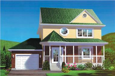 3-Bedroom, 1560 Sq Ft Country House Plan - 157-1087 - Front Exterior