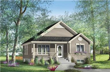 2-Bedroom, 953 Sq Ft Country Home Plan - 157-1089 - Main Exterior