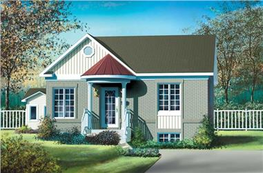 2-Bedroom, 896 Sq Ft Bungalow House Plan - 157-1092 - Front Exterior