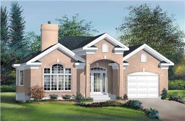 2-Bedroom, 1399 Sq Ft Craftsman House Plan - 157-1093 - Front Exterior