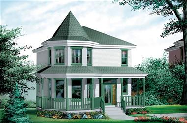 3-Bedroom, 1444 Sq Ft Small House Plans - 157-1096 - Main Exterior