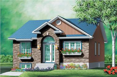 2-Bedroom, 952 Sq Ft Bungalow Home Plan - 157-1097 - Main Exterior