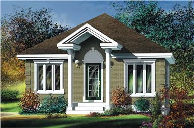 2-Bedroom, 780 Sq Ft Bungalow Home Plan - 157-1099 - Main Exterior
