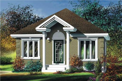 Small, Traditional, Bungalow House Plans - Home Design PI-10968 ...
