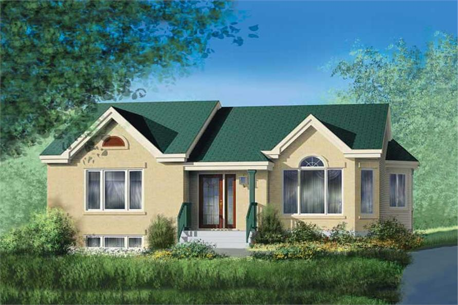 2-Bedroom, 1139 Sq Ft Ranch Home Plan - 157-1100 - Main Exterior